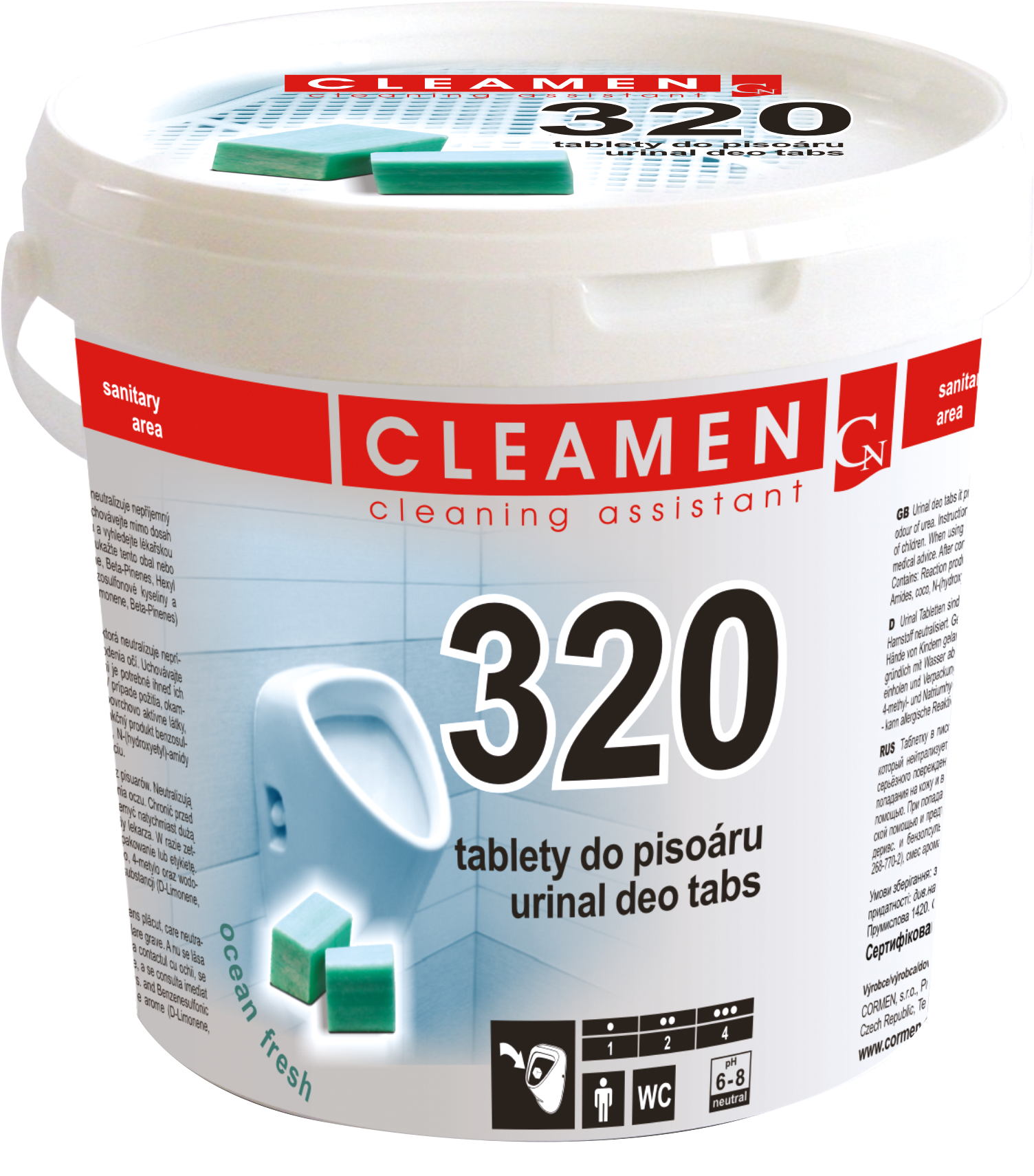CLEAMEN 320 DEO tablety do pisoáru 1,5kg