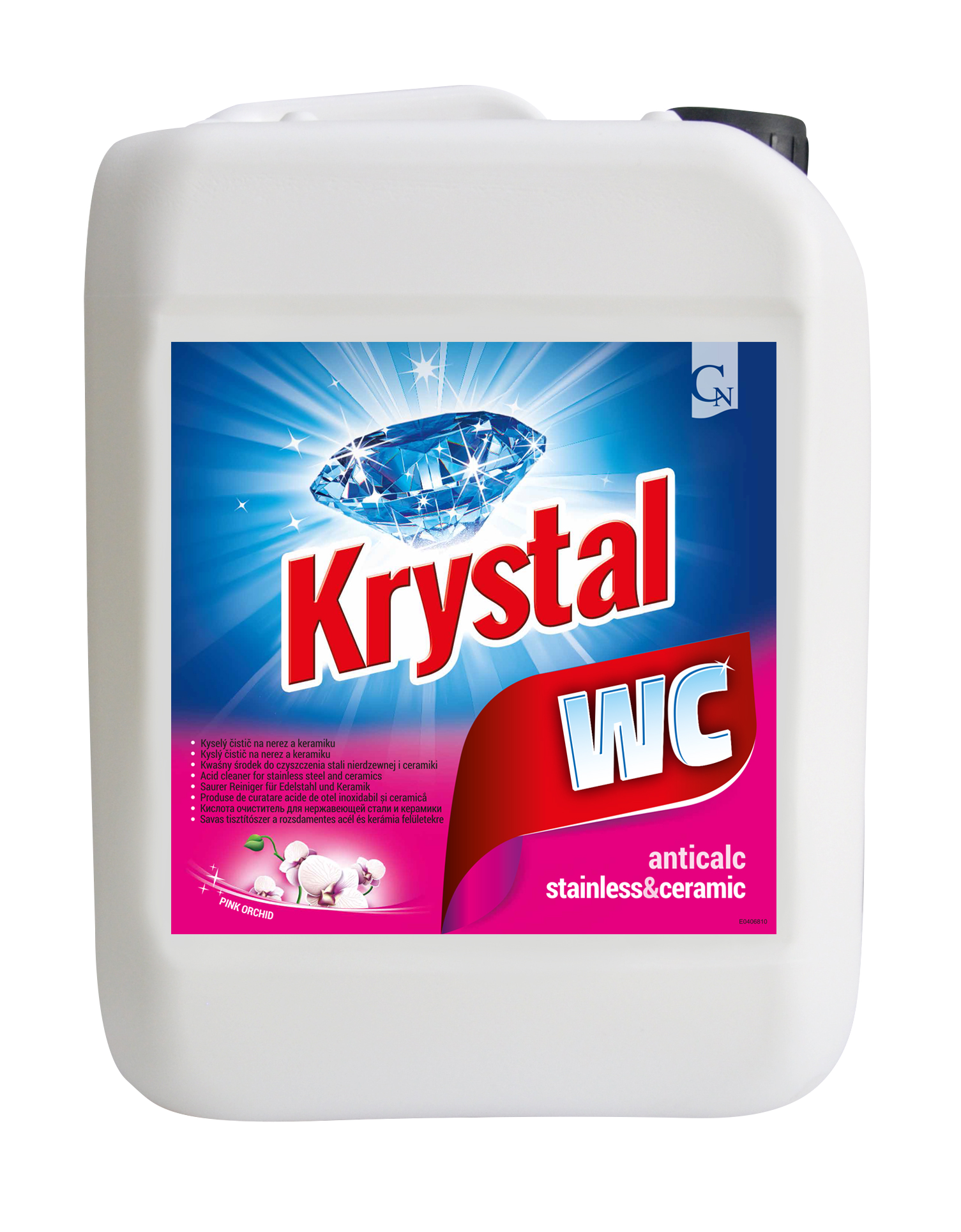 KRYSTAL na WC CLEANER růžový 5l